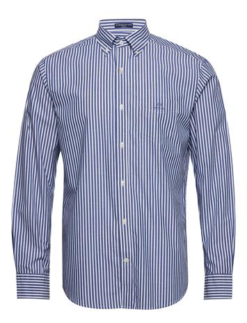 Gant The Broadcloth Stripe Reg Bd Paita Bisnes Sininen Gant COLLEGE BLUE