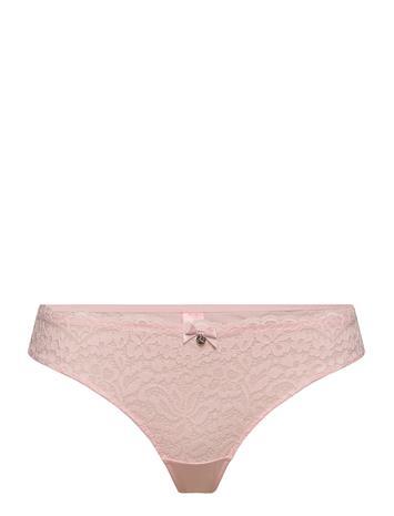 Hunkemöller Marina String R Stringit Alusvaatteet Vaaleanpunainen Hunkemöller CHALK PINK
