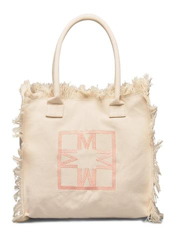 By Malina Iconic Beach Tote Bags Shoppers Fashion Shoppers Kermanvärinen By Malina CREAM