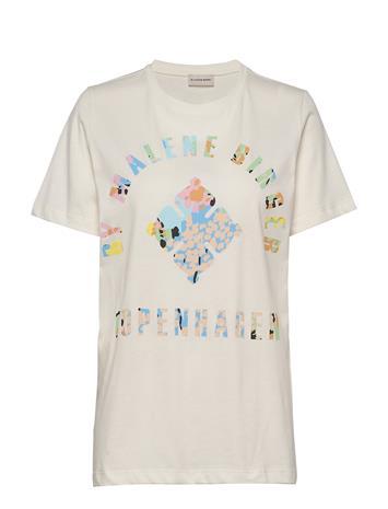 By Malene Birger Desmos T-shirts & Tops Short-sleeved Valkoinen By Malene Birger SOFT WHITE