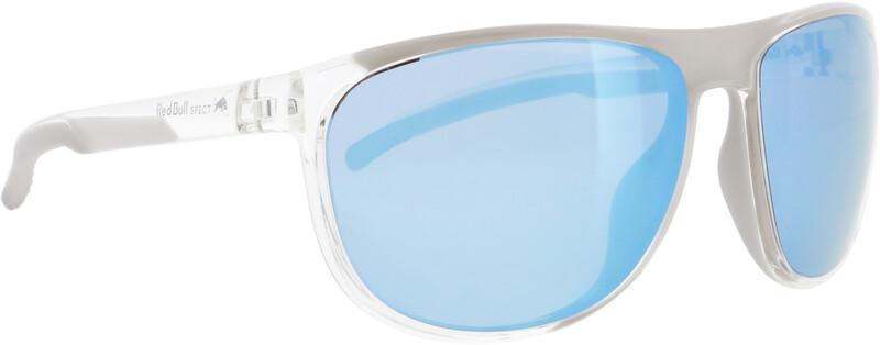 Red Bull SPECT Slide Sunglasses, x'tal clear/smoke with ice blue mirror polarized, Korut, rannekellot, lompakot ja aurinkolasit