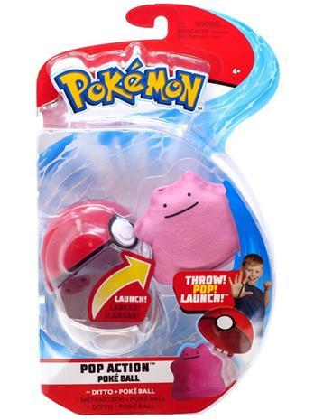 Pokemon Pop Action Poke Ball Ditto + Throw Poke Ball Plush -