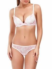 Marc & Andrä© naisten rintaliivit, valkoinen-pinkki 70B