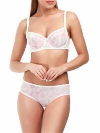 Marc & Andrä© naisten rintaliivit, valkoinen-pinkki 80D