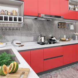 vidaXL Itseliimautuva huonekalukalvo punainen 500x90 cm PVC