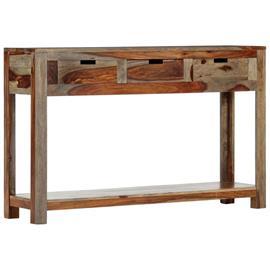 vidaXL Konsolipöytä 3 laatikolla 120x30x75 cm täysi seesampuu, Muut huonekalut