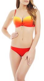Marc & Andrä© naisten bikini yläosa, punainen-keltainen 38C