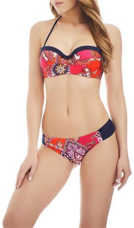 Marc & Andrä© naisten bikini yläosa, tummansininen-kirjava 38B