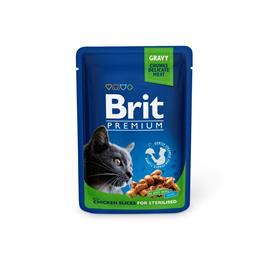 Brit Premium Cat kana kastikkeessa steriloiduille kissoille 100 g