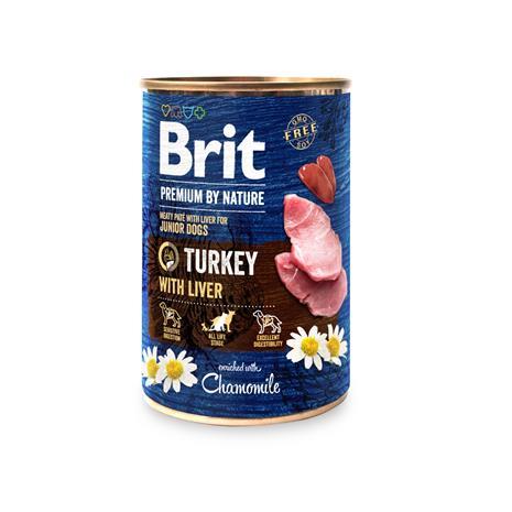 Brit Premium by Nature kalkkuna-maksa pennuille 400 g