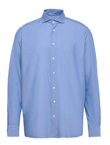 Eton Blue Twill Shirt – Soft Paita Bisnes Sininen Eton BLUE