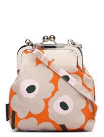 Marimekko Roosa Mini Unikko Bags Small Shoulder Bags - Crossbody Bags Oranssi Marimekko ORANGE,BEIGE,PINK