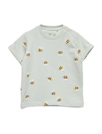 Lindex Top Bumblebee T-shirts Short-sleeved Sininen Lindex LIGHT AQUA