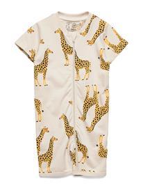 Lindex Pyjamas Ss Giraffe Pyjama Sie Jumpsuit Haalari Beige Lindex LIGHT BEIGE