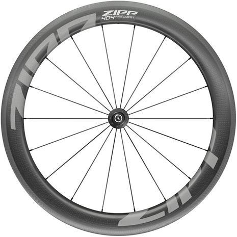 """Zipp 404 Firecrest Front Wheel 28"""""""" 100mm Carbon Clincher Tubeless QR, black"""