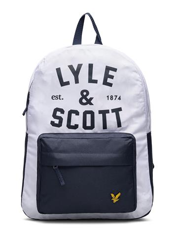 Lyle & Scott Junior Graphic Logo Back Pack Bright White Accessories Bags Backpacks Sininen Lyle & Scott Junior BRIGHT WHITE