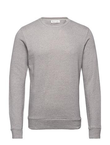 By Garment Makers The Organic Sweatshirt W. V Neulepaita Pyöreä Kaula-aukko Harmaa By Garment Makers 5020 GREY MELANGE