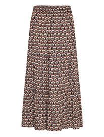 Minus Mili Skirt Polvipituinen Mekko Ruskea Minus GRAPHIC SHAPES BLACK IRIS PRINT