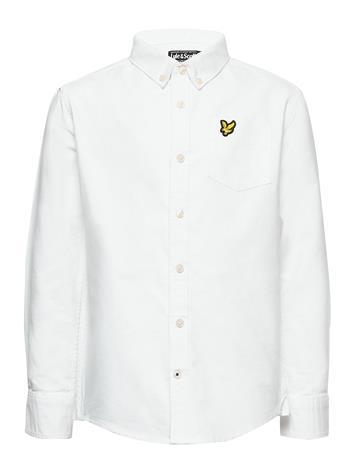 Lyle & Scott Junior Oxford Long Sleeve Shirt Bright White Paita Valkoinen Lyle & Scott Junior BRIGHT WHITE