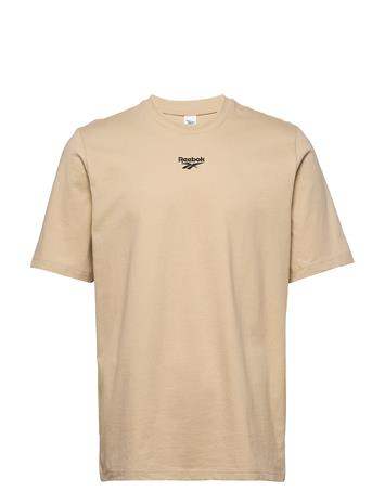 Reebok Classics Cl Bball Tee T-shirts Short-sleeved Beige Reebok Classics MODBEI