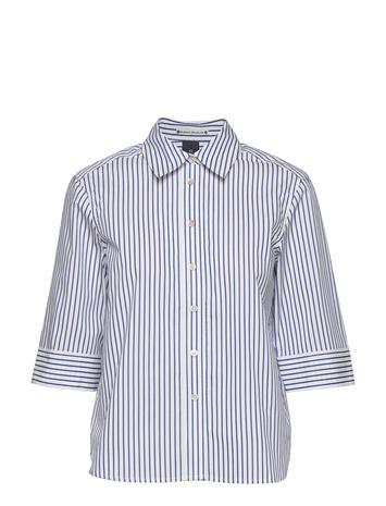 Scotch & Soda Clean Shirt With 3/4 Sleeves Pitkähihainen Paita Valkoinen Scotch & Soda COMBO A