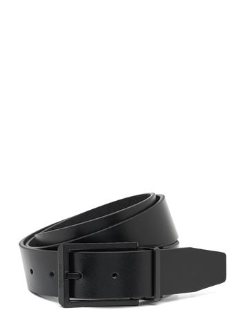 Calvin Klein 35mm Adj/Rev Skived Buckle Mono Accessories Belts Classic Belts Musta Calvin Klein BLACK / MONO