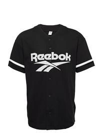 Reebok Classics Cl D Baseball Jersey T-shirts Short-sleeved Musta Reebok Classics BLACK