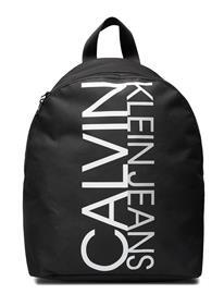 Calvin Klein Institutional Logo Backpack Accessories Bags Backpacks Musta Calvin Klein CK BLACK