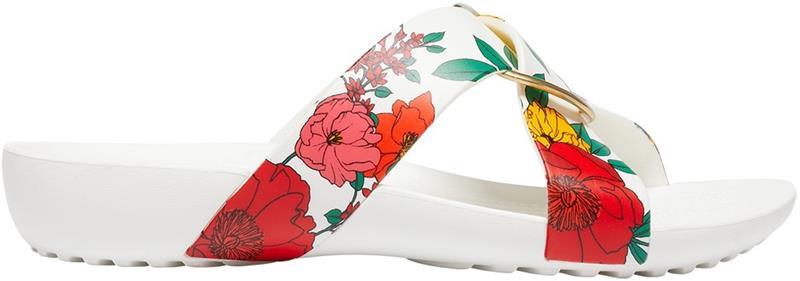 "Crocsâ""¢ naisten vapaa-ajan kengät Serena Printed Cross Band Slide Womens, kukkakuvio 37,5"