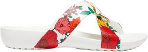 "Crocsâ""¢ naisten vapaa-ajan kengät Serena Printed Cross Band Slide Womens, kukkakuvio 42,5"