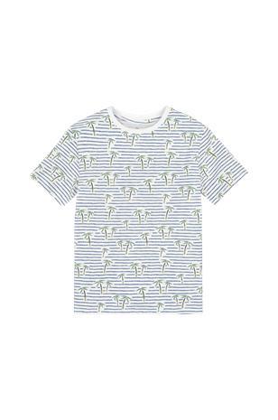 La Redoute Raidallinen T-paita, jossa palmukuvio