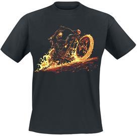 Ghostrider - Flaming Bike - T-paita - Miehet - Musta