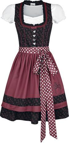 Mikki & Minni Hiiri - Minnie - Lyhyt mekko - Naiset - Musta punainen