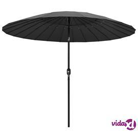 vidaXL Aurinkovarjo alumiinitanko 270 cm antrasiitti