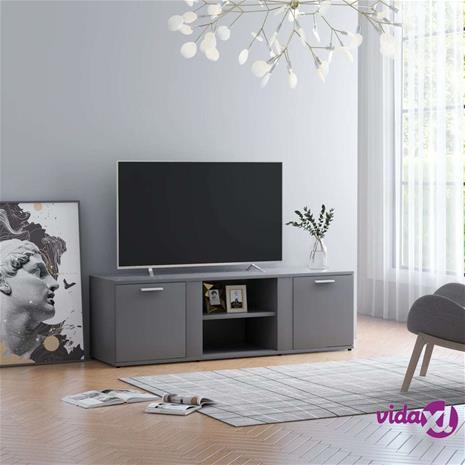 vidaXL TV-taso harmaa 120x34x37 cm lastulevy