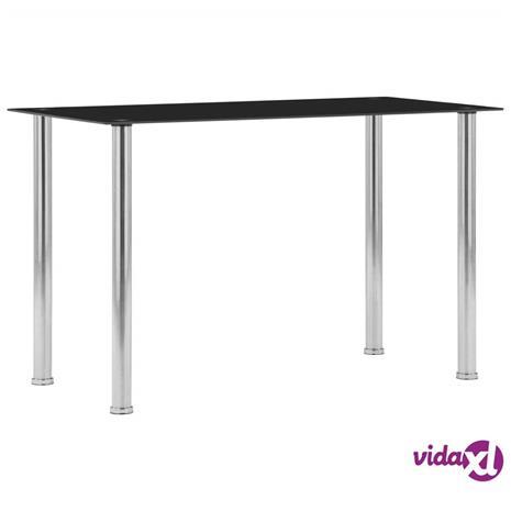 vidaXL Ruokapöytä musta 120x60x75 cm karkaistu lasi