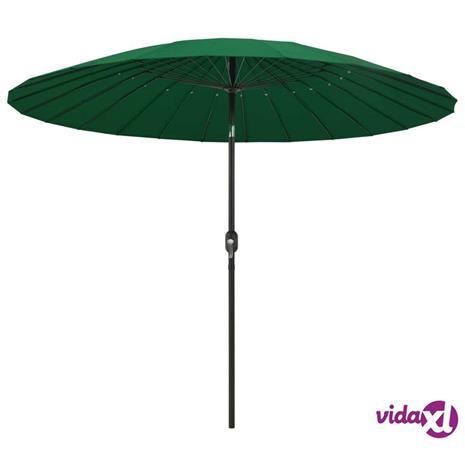 vidaXL Aurinkovarjo alumiinitanko 270 cm vihreä