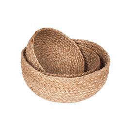Dixie Dixie-Jute Braided Bread Basket 3-pack, Natural