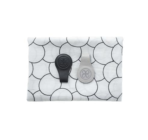 Cloby - Swaddle and Magnetic Leather Clips, Black