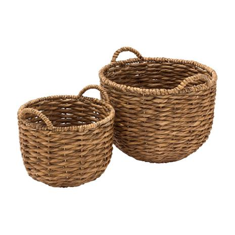 Dixie Water Hyacinth Twisted Basket 2-pack, Natural