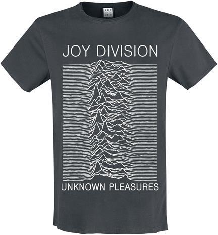 Joy Division - Amplified Collection - Unknown Pleasures - T-paita - Miehet - Hiilenharmaa