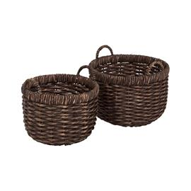 Dixie Water Hyacinth Twisted Basket 2-pack, Brown