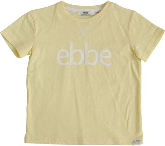 Ebbe Hendrix Logo T-Paita, Pale Yellow, 128