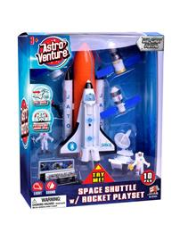 Astro Venture Diecast Space Shuttle with Rocket Playset