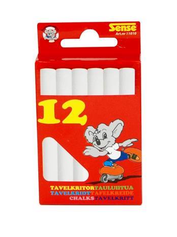 Sense White Chalks 12-P