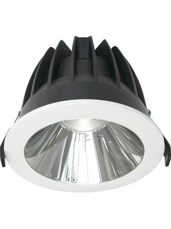 Nordtronic Zita 28W 3000K Downlight Matt white / round