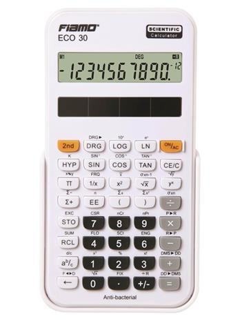 Fiamo Eco 30 Anti-bacterial Calculator White