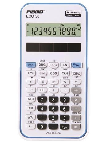 Fiamo Eco 30 Anti-bacterial Calculator Blue
