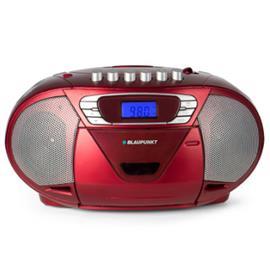 BLAUPUNKT Boombox, CD, kasetti ja USB, punainen