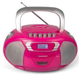 BLAUPUNKT Boombox, CD ja kasetti, vaaleanpunainen